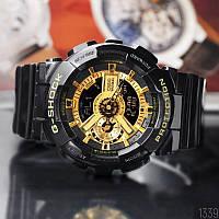 Часы C**o G-Shock ga-110 (касио джи-шок)  BLACK-GOLD черные с зол (стильные, спортивные) (Наручний годинник)