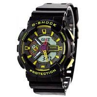 Часы Касио Джи Шок  GA-110 Black-Yellow