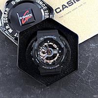 Часы Касио Джи Шок  GA-110 Black-Cuprum Спортивные, Черный Ремешок, черно-золотистый цф