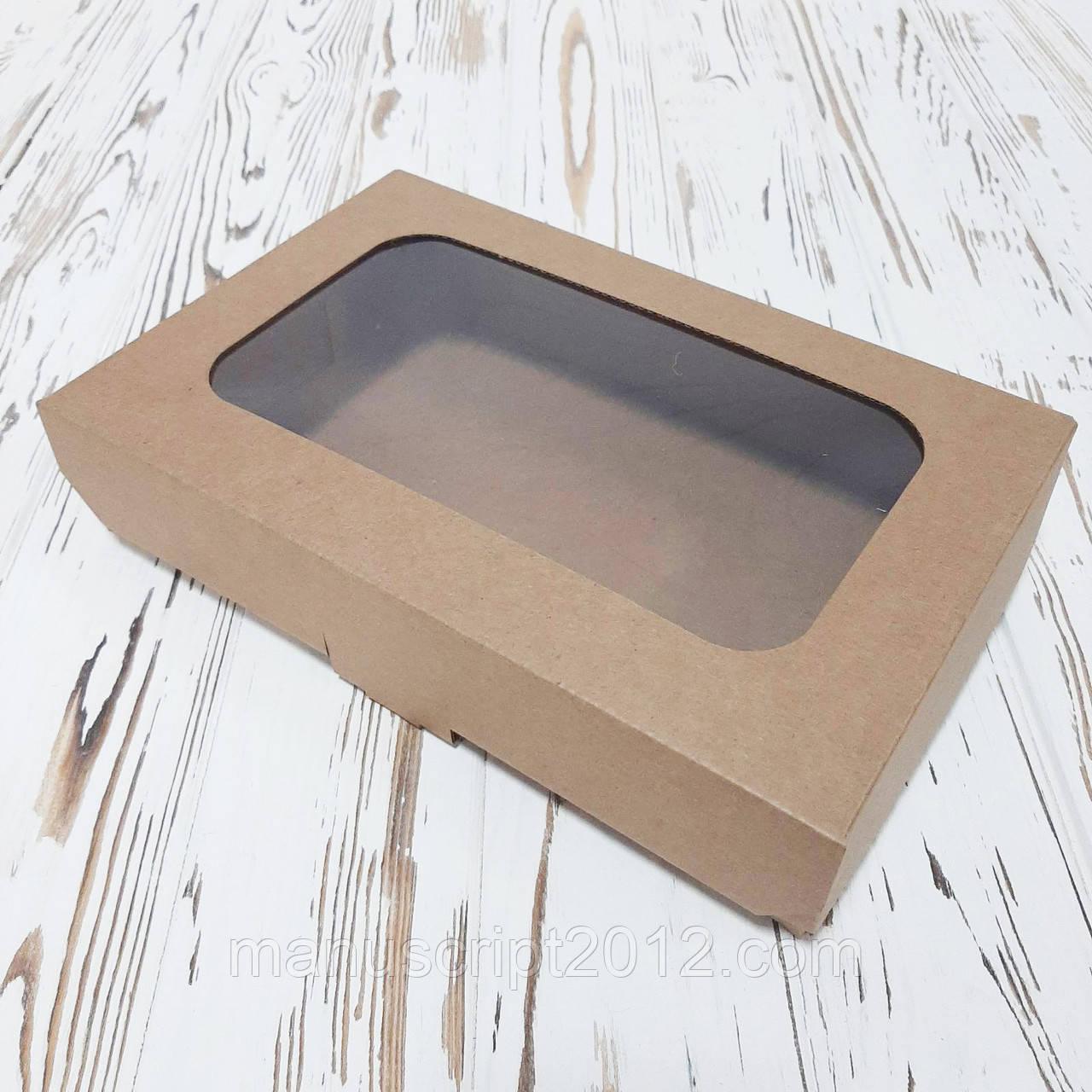 Коробка для пирогов, чизкейков, пирожков  250х165х55 мм. (МГК крафт)