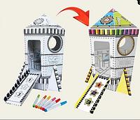 Ракета-раскраска антистресс в коробке. 41*24 см (Z003)