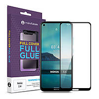 Защитное стекло MakeFuture Full Cover Full Glue Nokia 3.4 Black (MGF-N34)