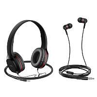 Носо W24 універсальний музичний набір дротяних навушників з 3,5 мм навушники з мікрофоном для ПК телефон