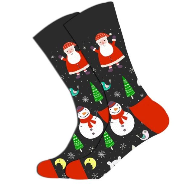 Новогодние мужские носки Снеговик