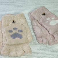 Перчатки шерстянные без пальцев для девочки Возраст 5-10 лет, фото 3