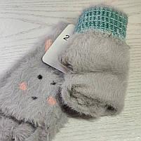 Перчатки шерстянные без пальцев для девочки Возраст 7-12 лет, фото 5