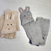 Перчатки шерстянные без пальцев для девочки Возраст 7-12 лет, фото 4