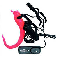 Вибромассажер розового цвета The Ghecko Strap - On