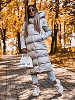 S, М (Р 42,44,46) Куртка-трансформер женская демисезонная Курточка длинная Пальто еврозима Пуховик