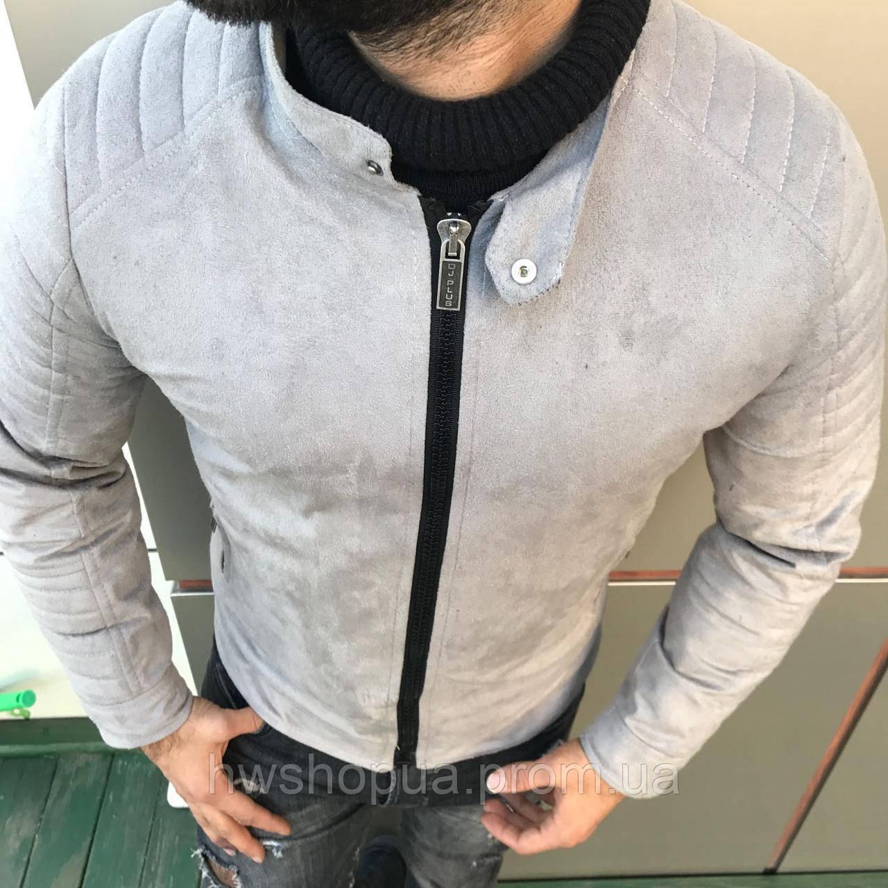 Курточка серая стеганные рукава