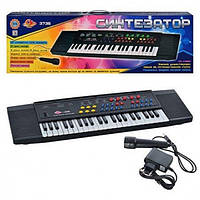 Детский большой синтезатор пианино с микрофоном 44 клавиши микрофон запись есть режим пианино