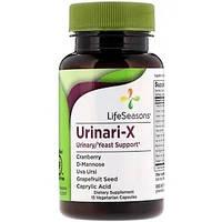 Мочевая/дрожжевая поддержка,Urinari-X Urinary/Yeast Support, LifeSeasons, 15 вегетарианских капсул