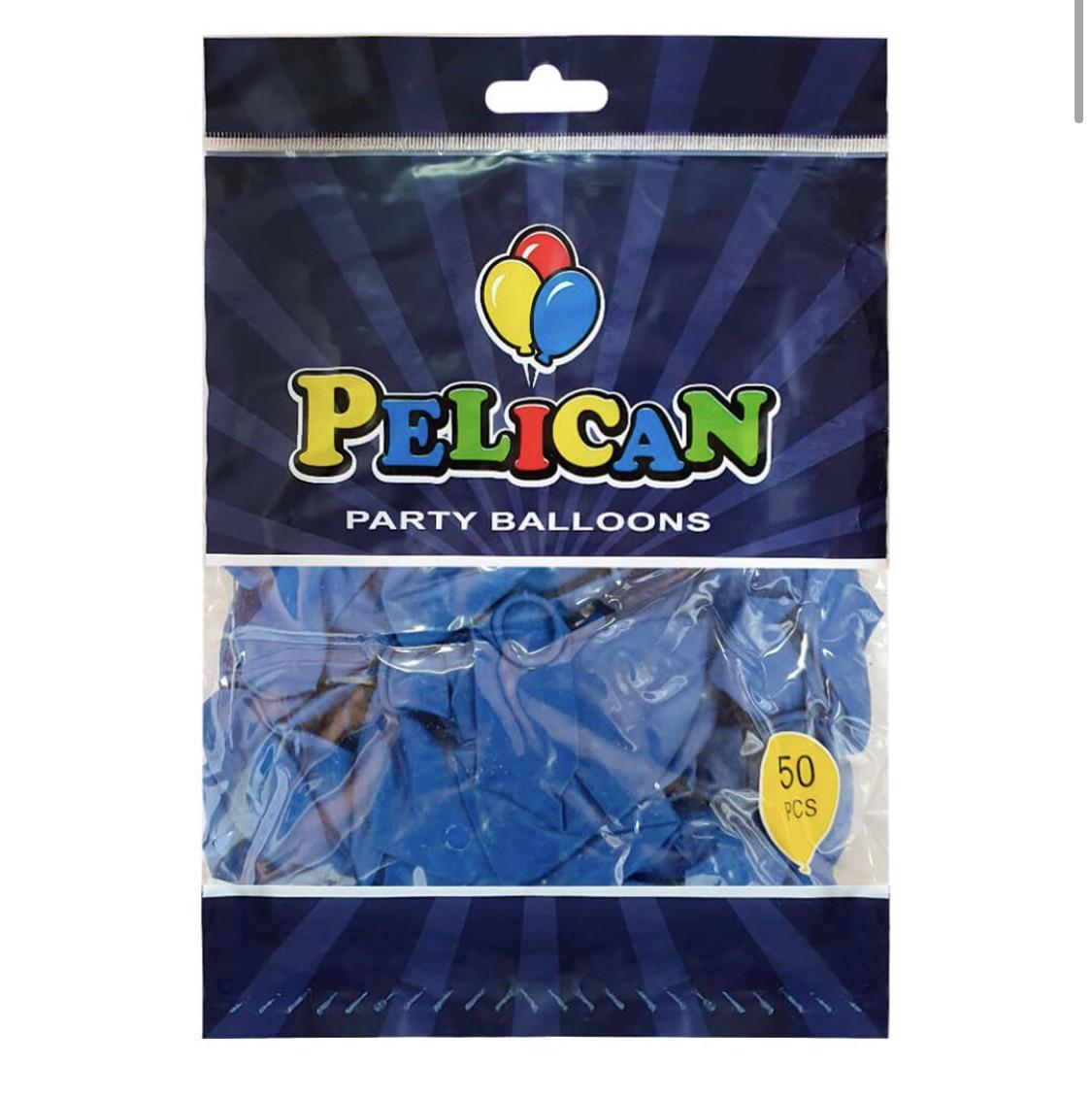 Воздушные латексные шары Синие.10'(26см.) Упаковка 50 шт. пр-во Малайзия