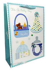"""Пакет картон 200грм, """"It""""s a baby №2"""", 26*32*10см по 6шт в упак.* //"""