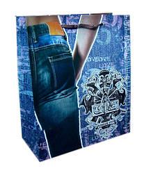 """Пакет ламинированый 150грм, """"Jeans"""", 30*40*10см по 6шт в упак.* //"""