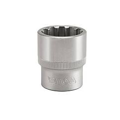 """Головка Торцева Сплайн (Spline) 1/2"""" M=12 мм L=38 мм YATO YT-1464"""