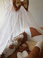 """Комплект постельный в детскую кроватку """"Classic"""", с бортиками и балдахином"""