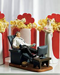 Забавная фигурка на свадебный торт 1019