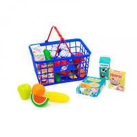 """Корзина с продуктами """"Супермаркет"""", 23 эл (синяя) 379 в.5"""