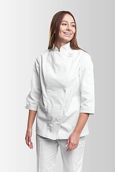 Китель повара Rio 235-1 Женский Белый