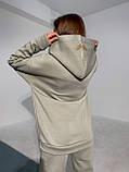 Женский зимний спортивный костюм двойка белый пудровый фисташковый 42-46 48-50 oversize, фото 7