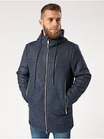 Пальто кашемировое мужское синее