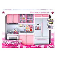 Мебель для куклы барби - Большая Кухня, холодильник, мойка, плита, посуда, мебель для домика барби, 26210