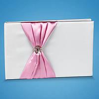 Свадебная книга пожеланий с розовым декором 0714-1