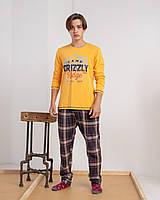 Мужской комплект со штанами в клетку Grizzly