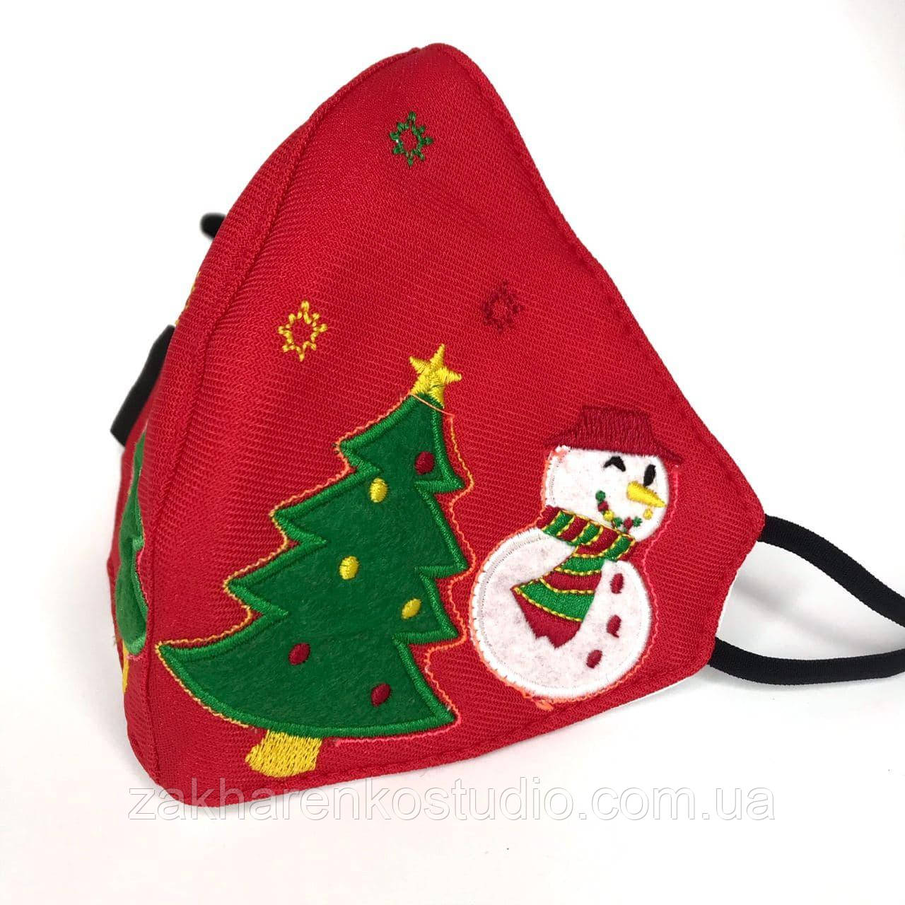 Рождественская светодиодная светящаяся маска,Красная