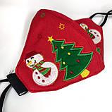 Рождественская светодиодная светящаяся маска,Красная, фото 2