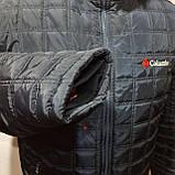 Зимняя мужская куртка (Больших размеров) на подкладке овчине Турция Темно-синяя, фото 2