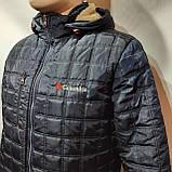 Зимняя мужская куртка (Больших размеров) на подкладке овчине Турция Темно-синяя, фото 3