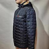 Зимняя мужская куртка (Больших размеров) на подкладке овчине Турция Темно-синяя, фото 4