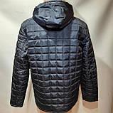 Зимняя мужская куртка (Больших размеров) на подкладке овчине Турция Темно-синяя, фото 8