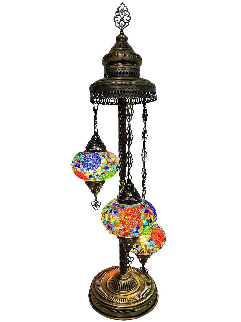 Напольный турецкий светильник  Sinan из мозаики ручной работы цветной 6