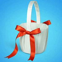 Свадебная корзинка для лепестков роз 0722-4