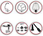 Кухонный комбайн 3в1 DMS Germany KMFB-2100R (красный) 2100 Вт, фото 3