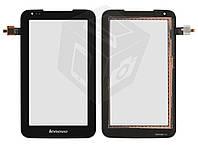 Сенсорный экран для Lenovo IdeaTab A1000L, черный, оригинал