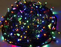 Гирлянда новогодняя 500 л мультиколор, черный провод, фото 1