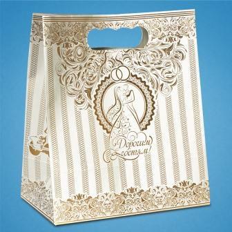 Бумажный пакет для свадебного каравая C-0040