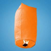 Небесный фонарик, оранжевый, в форме купола
