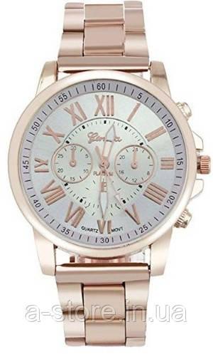 Женские часы на металлическом браслете Geneva золотистые