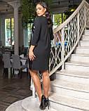 Стильное женское платье свободного кроя Размер 50 52 54 56 58 60 62 64 В наличии 3 цвета, фото 2