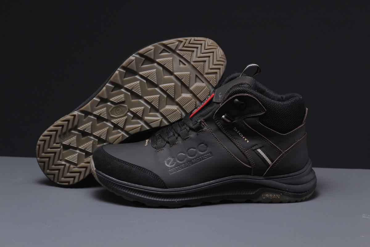 Зимние мужские кроссовки 31581 ► Ecco Biom (мех), коричневые . [Размеры в наличии: 40,42,44]