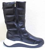 Сапоги женские кожаные зимние, дутики от производителя модель КЛ222-2, фото 3