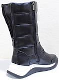 Сапоги женские кожаные зимние, дутики от производителя модель КЛ222-2, фото 4