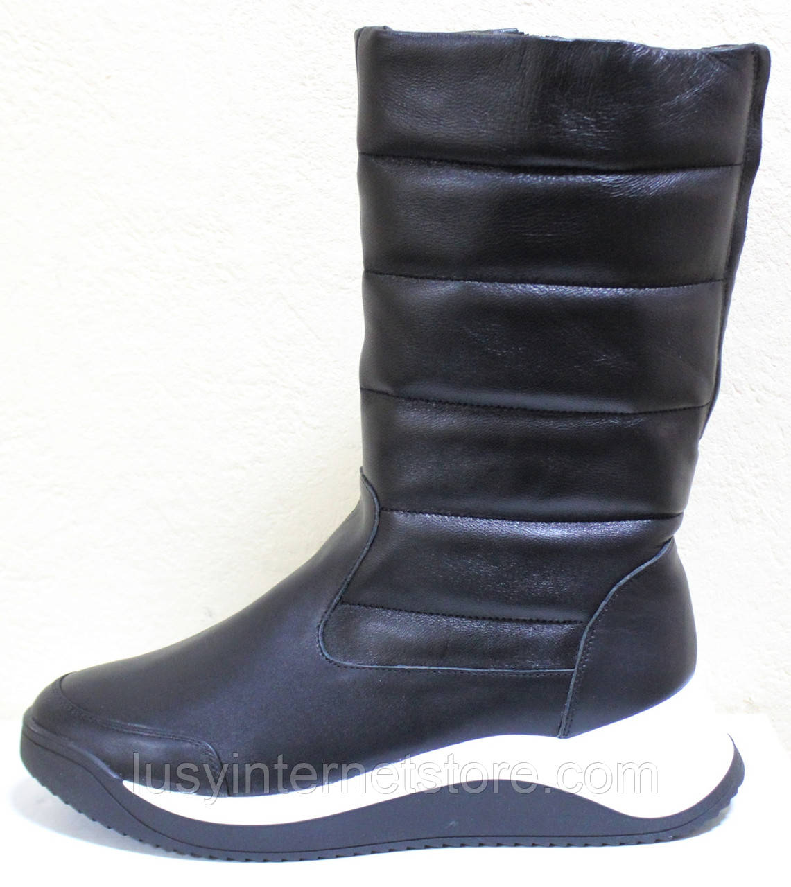 Сапоги женские кожаные зимние, дутики от производителя модель КЛ222-2