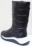 Сапоги женские кожаные зимние, дутики от производителя модель КЛ222-2, фото 5