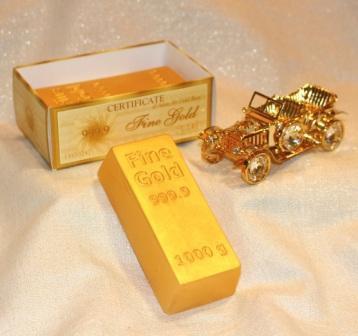 """Подарочное мыло ручной работы """"Слиток золота"""""""
